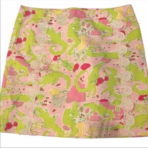 Lilly Pulitzer Skirt FRISKY BUSINESS Pink Green 8